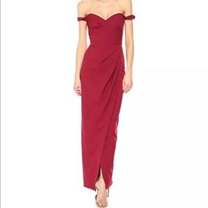 JS Collection Women's Off Shoulder Sweetheart Gown